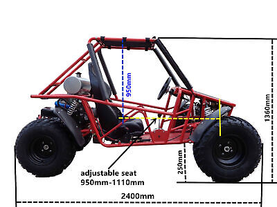 200cc off road single seat full size adult dune buggy 1 forward/1 reverse