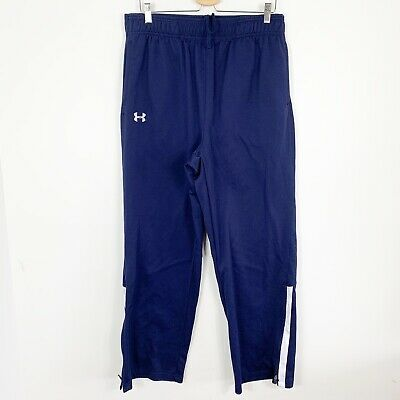 Under Armour Youth Mens Athletic Warmup Sweatpants Basketball Pants Navy Blue XL