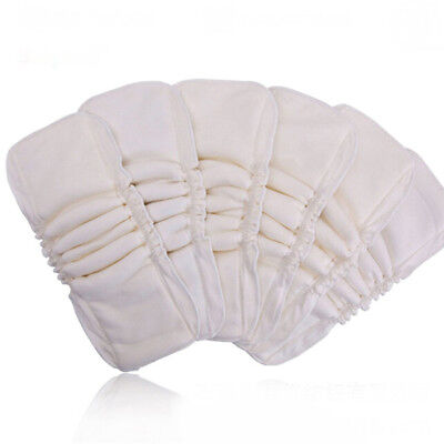 Baby Cloth Diaper Inserts Soaker Pads Reusable Washable No-Leaking BL3