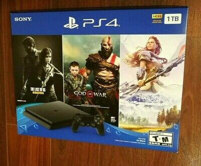 New Sony PlayStation 4 PS4 Slim 1TB Console Only on Playstation Bundle 3 Games