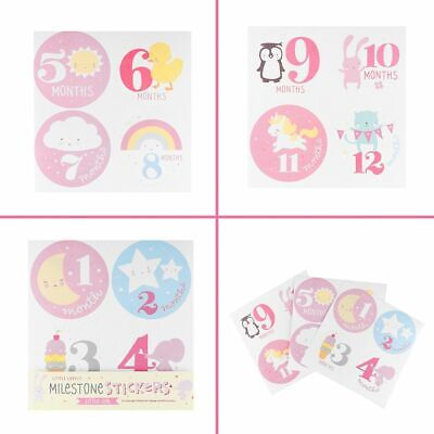 Sticky Growth Paste Baby Monthly Stickers Scrapbook Photo Decorative Paper