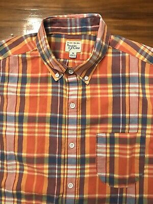 New J.Crew Indian Madras Shirt Slim Long Sleeve Button Down Plaid Teal Surf NWT
