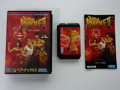 BARE KNUCKLE 2 Street Of Rage II Sega Megadrive JAPAN