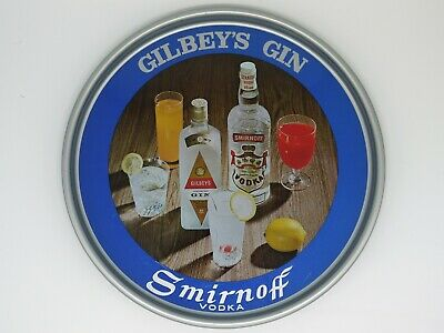 1960's Gilbeys Gin and Smirnoff Vodka Serving Tray