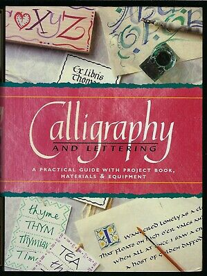 Calligraphy & Lettering Box Set UNUSED Pens Ink Paper Book etc