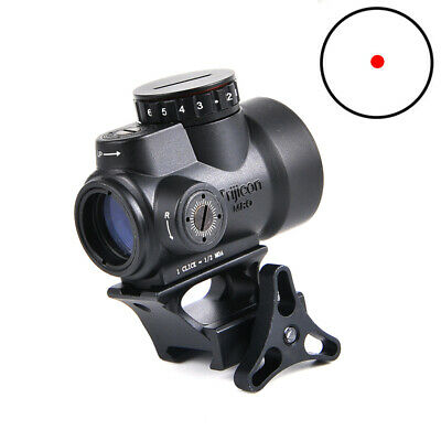 1x25mm MRO 2.0 MOA Adjustable Red Dot Sight Hunting Black With High/Low Mount