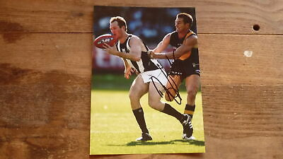 COLLINGWOOD FC STAR BEN JOHNSON HAND SIGNED 7x5 INCH ACTION PHOTO