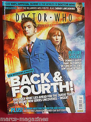 Doctor Who # 394 April 2008  David Tennant Dalek Donna Sontarans Torchwood