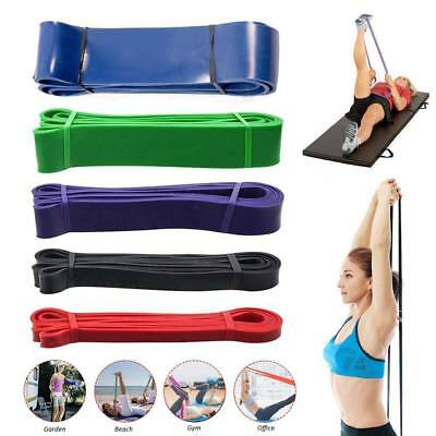 Set of 5 Heavy Duty Resistance Band Loop Power Gym Yoga Workout Fitness Exercise