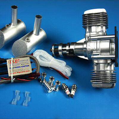 DLE40 40CC Double Cylinder Side Exhaust Gas Engine For RC Airplane Model