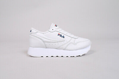 FILA ORBIT ZEPPA Low Women EU 39 US 8 all white Sneaker
