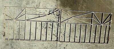 Vintage Art Deco Wrought Iron Driveway Gates Garden House