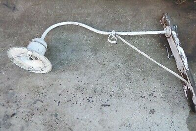 Vintage Bracket Wall Light Exterior Industrial Factory Street Light Ornate Cast