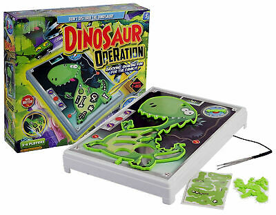Dinosaur T-Rex Operation Kids Buzzer Steady Hand Family Board Game Christmas Fun