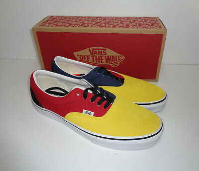 VANS Mens Classic Lace Up Era Off the Wall Trainers Shoes Yellow New UK Size 6.5