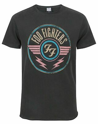 Gris de carbón Fighters Foo amplificado Aire hombres del logotipo de la camiseta