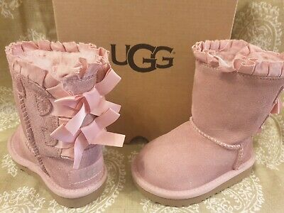 Girls Infant Pink UGG Boots..infant Size uk 5.Bailey Bow Ruffles Boots. eu 22.5