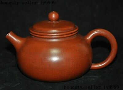 Marked Old Chinese Yixing Zisha pottery master Hand-carved Teapot pot Tea Maker