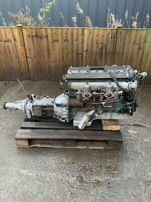 Complete Jaguar 3.4 Engine and All Synchro Gearbox. Engine Running.