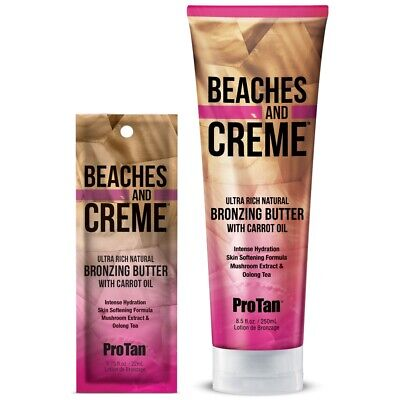Pro Tan Beaches & and Creme Natural Bronzer Bronzing sunbed tanning lotion cream
