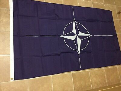 NATO 5ft x 3ft Flag North Atlantic Treaty Organisation Military World Peace