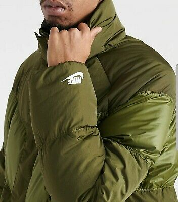 NIKE FULL ZIP Insulated Puffer Jacket. Purple, Spellout Neck