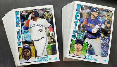 2019 TOPPS UPDATE SILVER PACK Chrome BASEBALL 1984 INSERTS YOU PICK COMPLETE SET