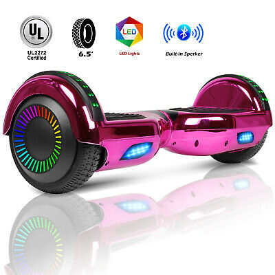 """6.5"""" Bluetooth Hoverboard Electric Balancing Scooter UL2272 Bag Rose Red Music"""
