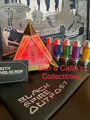 Star Wars Galaxy's Edge Sith Holocron & 5 Kyber Crystals Sealed New