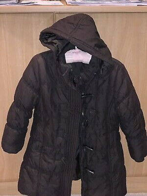 John Lewis Black Quilted Girls Warm Coat With Removable Hood Age 5 Yrs