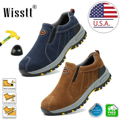 Men's Steel Toe Work Boots Oxford Safety Shoes Indestructible Light Sneakers ESD