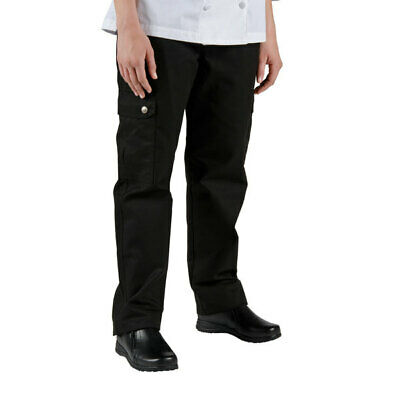 Chef Revival Ladies Black Cargo Pants - LP002BK-M