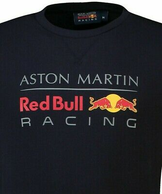Honda Aston Martin 2019 Red Bull Racing Men's Large Logo Tee Tshirt Genuine Navy