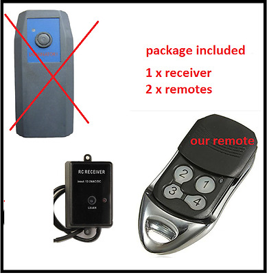 2 x Dominator ADS DOM503 DOM401 Compatible Garage//Gate Remote Duplicator 315mhz