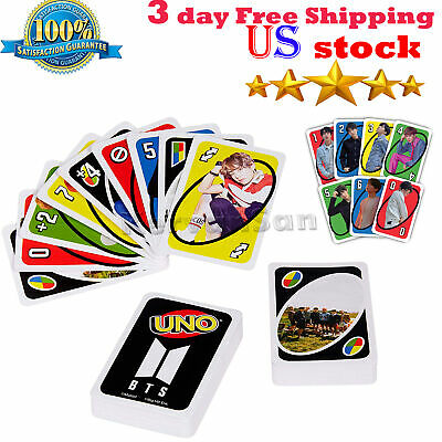 UNO BTS Classic Card Game Features Images of Members 112 Card Toys Games