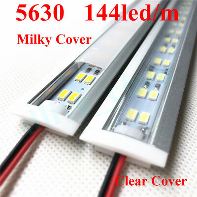 Embedded Aluminum Shell PC Cover Dual Row 5630 Led Strip Bar Light 12V 1M 0.5M