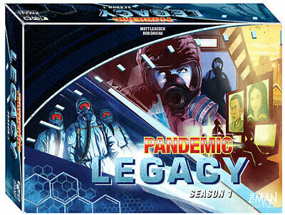 Pandemic Legacy Season 1 Blue Board Game Factory Sealed Brand New Z-Man