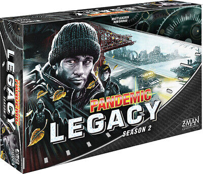 Pandemic Legacy Season 2 Black Board Game Factory Sealed Brand New Z-Man