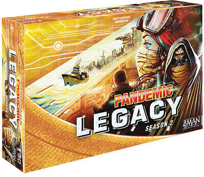 Pandemic Legacy Season 2 Yellow Board Game Factory Sealed Brand New Z-Man