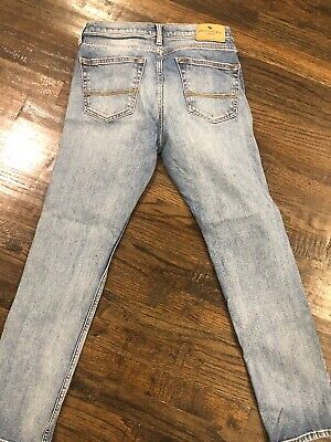 Abercrombie Kids Boys Skinny Fit Denim Jean  Sz. 15/16  Light Wash blue jeans