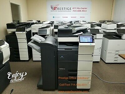 Konica Minolta Bizhub 558e Copier-Black White. Meter only 19k SEE VIDEO BELOW !!