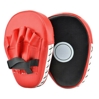 1 Pair Red Focus Boxing Punch Mitts Training Pad For MMA Karate Muay Thai Kick -