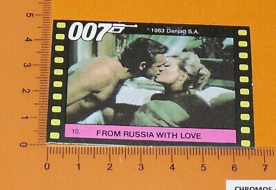 N°10 James Bond 007 From Russia With Love Connery Bianchi Monty Gum Card 1985
