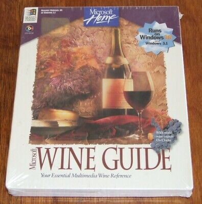 Microsoft Home Wine Guide vintage software for the 386 486 computer