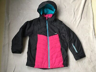 Ski Winter Jacket Kids Girl Size 6 Great Condition Black Pink Decathlon Warm