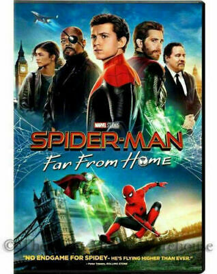 Marvel's SPIDERMAN-FAR FROM HOME (DVD)  New Factory Sealed  >>Free Shipping>>>