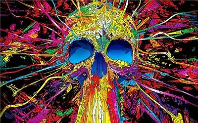 """Psychedelic Trippy Art Fabric Poster 30/"""" x 24/"""" P06"""