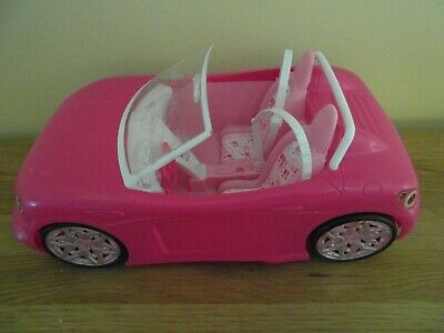 Preowned: PINK BARBIE CONVERTIBLE BUGGY, Great Car, Crack on Windscreen