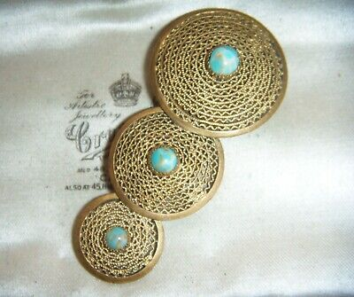 ART DECO VINTAGE CZECH MODERNIST LARGE Filigree Turquoise DRESS JACKET CLIP