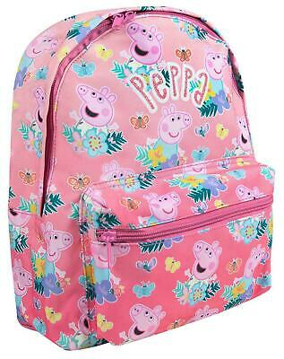 Peppa Pig All Over Print Children's Cute Pink Backpack with Adjustable Straps